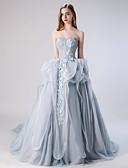 זול שמלות ערב-נשף סטרפלס שובל קורט טול ערב רישמי שמלה עם על ידי LAN TING Express