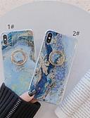 זול מגנים לאייפון-מגן עבור Apple iPhone XS / iPhone XR / iPhone XS Max מחזיק טבעת / תבנית / זוהר ונוצץ כיסוי אחורי שיש רך TPU