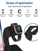 זול מטען כבלים ומתאמים-2 ב 1 מטען אלחוטי צ'י לעמוד Apple לצפות טעינה לעמוד עבור iPhone X / 8/8 פלוס לצפות סדרה 321