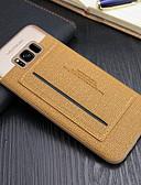 זול מגנים לאייפון-מגן עבור Apple iPhone 6s Plus / iPhone 6s / iPhone 6 Plus מחזיק כרטיסים / עם מעמד כיסוי אחורי אחיד קשיח PC