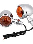 זול להקות Smartwatch-עבור הארלי 2pcs אופנוע כרום כדור bulb 12v הפעל אות אור מחוון מנורה ענבר