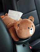 זול מחזיקים ומרכבים-רכב תליון המושב האחורי סוג רכב צל בלוק קריקטורה חמוד פנים אוטומטי אביזרים תיבת רקמות
