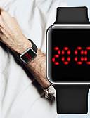זול שעונים דיגיטלים-בגדי ריקוד גברים שעון דיגיטלי דיגיטלי סגנון מודרני מסוגנן סיליקוןריצה שחור 30 m עמיד במים LCD שעונים יום יומיים דיגיטלי חוץ אופנתי - כסף סגול זהב ורד שנה אחת חיי סוללה