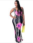 זול שמלות מקסי-מקסי פרחוני - שמלה צינור בסיסי בגדי ריקוד נשים