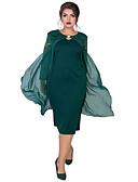 זול שמלות במידות גדולות-מידי טלאים, אחיד - שמלה צינור נדן אלגנטית בגדי ריקוד נשים
