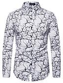 hesapli Gömlekler-Erkek Gömlek Desen, Geometrik Punk ve Gotik Beyaz