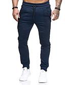 זול חולצות לגברים-בגדי ריקוד גברים ספורטיבי רזה מכנסי טרנינג מכנסיים - אחיד פס אפור כהה כחול נייבי ירוק צבא US32 / UK32 / EU40 US34 / UK34 / EU42 US36 / UK36 / EU44 / גמישות