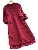 זול חולצה-אחיד טוניקה - בגדי ריקוד נשים יין