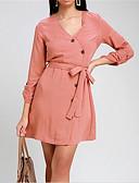 hesapli Romantik Dantel-Kadın's Kılıf Elbise - Solid Diz üstü