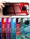 זול מגנים לטלפון-מגן עבור Huawei Huawei Mate 20 pro / Huawei Mate 20 / Huawei Mate 20X תבנית כיסוי אחורי שיש / צבע הדרגתי קשיח זכוכית משוריינת