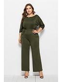 hesapli Kadın Tulumları-Kadın's Temel Beyaz YAKUT Ordu Yeşili Tulumlar, Solid S M L