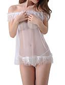 hesapli Bornozlar ve Pijamalar-Kadın's Etekler - Solid Dantel Beyaz Tek Boyut / Jartiyerli İç Giyim / Süper Seksi