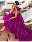 hesapli Mini Elbiseler-Kadın's Çan Elbise - Solid Askılı Maksi