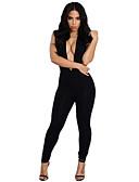 hesapli Bikiniler ve Mayolar-Kadın's Temel / Sokak Şıklığı Siyah Tulumlar, Solid Şalter / Kırk Yama S M L