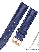 hesapli Deri Saat Bandı-Gerçek Deri / Deri / Buzağı Tüyü Watch Band kayış için Siyah / Beyaz / Mavi Diğer / 17cm / 6.69 inç / 19cm / 7.48 İnç 1.2cm / 0.47 İnç / 1.3cm / 0.5 İnç / 1.4cm / 0.55 İnç