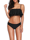 hesapli Bikiniler ve Mayolar-Kadın's Siyah Doğal Pembe Tankini Mayolar - Çiçekli S M L Siyah