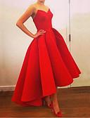 hesapli Mini Elbiseler-Kadın's A Şekilli Elbise - Solid Midi