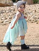 זול אוברולים טריים לתינוקות-שמלה ללא שרוולים פסים / טלאים בנות תִינוֹק