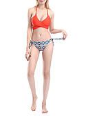 저렴한 비키니 & 수영복-여성용 오렌지 탱키니 수영복 - 기하학 S M L 오렌지
