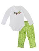 זול חולצות לתינוקות-סט של בגדים שרוול ארוך גיאומטרי / דפוס בנות תִינוֹק