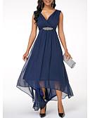 preiswerte Romantische Spitze-Damen Party A-Linie Kleid Solide Maxi V-Ausschnitt