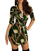 זול שמלות מיני-מעל הברך שרוך, שבטי - שמלה טישרט בסיסי אלגנטית בגדי ריקוד נשים