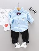 זול לבנים סטים של ביגוד לתינוקות-סט של בגדים שרוול ארוך פסים / גיאומטרי בנים תִינוֹק