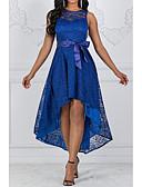 povoljno Ženske haljine-Žene Sofisticirano Elegantno Čipka Slim Swing kroj Haljina - Čipka, Jednobojni Mini