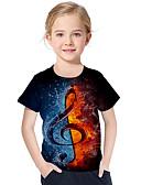 povoljno Majice za dječake-Djeca Dijete koje je tek prohodalo Djevojčice Aktivan Osnovni Geometrijski oblici Print Color block Print Kratkih rukava Majica s kratkim rukavima Crn
