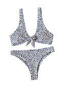 hesapli Bikiniler ve Mayolar-Kadın's Beyaz Havuz YAKUT Tankini Mayolar - Geometrik S M L Beyaz
