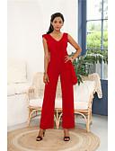 hesapli Kadın Tulumları-Kadın's Siyah Sarı YAKUT Tulumlar, Solid M L XL