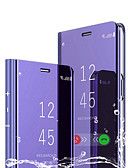זול מגנים לטלפון-מגן עבור Huawei חכמים P חכם 2019 עם מעמד / ציפוי / מראה כיסוי מלא אחיד קשיח עור PU / PC
