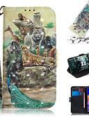 baratos Capinhas para Celulares-Capinha Para Samsung Galaxy J5 (2016) / Galaxy J4 Plus(2018) / Galaxy J6 Plus(2018) Carteira / Porta-Cartão / Com Suporte Capa Proteção Completa Animal / Desenhos 3D PU Leather