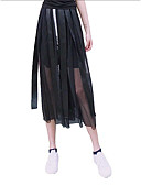 hesapli Kadın Etekleri-Kadın's Temel Salıncak Etekler - Solid Büzgülü Siyah M L XL