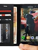 Недорогие Чехлы для телефонов-Кейс для Назначение SSamsung Galaxy S7 edge Кошелек / Защита от удара / Защита от пыли Чехол Однотонный Твердый Кожа PU