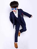 povoljno Kompletići za dječake-Djeca Dječaci Osnovni Jednobojni Dugih rukava Pamuk Odijelo i sako Plava