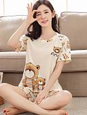 abordables Pijamas-Mujer Traje Ropa de dormir Beige M L XL