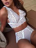 hesapli Babydoll ve Slipler-Kadın's Etekler - Solid Dantel Beyaz Siyah XL XXL XXXL / Sexy