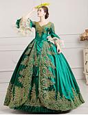 זול שמלות ערב-מארי אנטואנט רוקוקו המאה ה 18 שמלות תחפושת למסיבה נשף מסכות שמלת נשף בגדי ריקוד נשים תחרה מֶשִׁי תחפושות שחור / ירוק / בורגנדי וינטאג Cosplay Party נשף רקודים עד הריצפה נשף מידות גדולות מותאם אישית