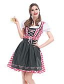 hesapli Oktoberfest-Kasım Festivali üstü dar altı geniş elbise Trachtenkleider Kadın's Elbise Bavyera Kostüm Ordu Yeşili