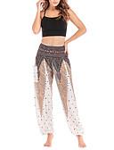 hesapli Kadın Etekleri-Kadın's Temel büzgülü kısa pantalon Pantolon - Çiçekli Siyah Beyaz Havuz Tek Boyut