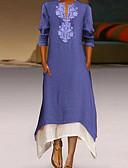 hesapli Maksi Elbiseler-Kadın's Temel Kombinezon Elbise - Geometrik, Resim Maksi / Salaş