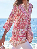povoljno Bluza-Bluza Žene Dnevno Cvjetni print Print Blushing Pink
