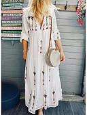 hesapli Maksi Elbiseler-Kadın's Boho Kombinezon Elbise - Geometrik, Desen Maksi