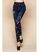 זול טייצים-בגדי ריקוד נשים כותנה Temel צועד - פרחוני, חור / דפוס מותן בינוני פול מידה אחת / רזה