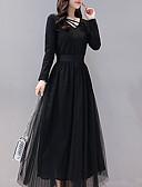 povoljno Print Dresses-Žene Korice Haljina Jednobojni Maxi