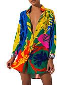 זול שמלות מיני-מיני גיאומטרי - שמלה נדן חולצה בסיסי בגדי ריקוד נשים