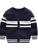 povoljno Dječaci & Dijete koje je tek prohodalo Veste-Dijete Dječaci Aktivan / Osnovni Prugasti uzorak / Geometrijski oblici / Print Kolaž Dugih rukava Džemper i kardigan Navy Plava