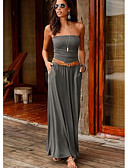 povoljno Maxi haljine-Žene Elegantno Korice Haljina - Otvorena leđa, Jednobojni Maxi
