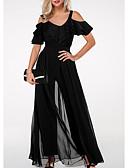 hesapli Kadın Tulumları-Kadın's Temel Siyah Tulumlar, Solid M L XL